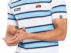 Ellesse Marono Striped Polo