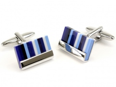 Sophos Blue Striped Cufflinks