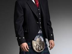 Black Argyll Jacket 5 button waistcoat