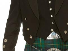 Black Prince Charlie with Hunting Stewart Kilt