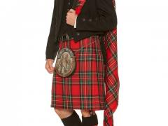 Black Prince Charlie with Royal Stewart Kilt