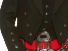 Black Prince Charlie with Royal Stewart Kilt