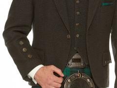 Charcoal Tweed with Black Watch Kilt