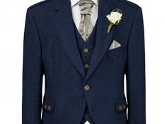Navy Tweed Jacklet