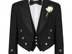 Black Prince Charlie Silver Button Jacket